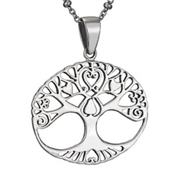 18in Sterling Love Tree necklace by Tiger Mtn