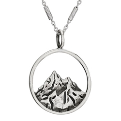18in Sterling Mountain in Circle necklace by Tiger Mtn