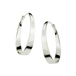 Sterling Aura hoop by Ed Levin
