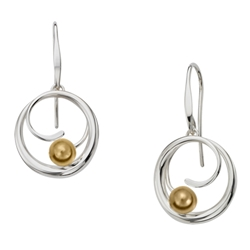 Sterling Bindu earring by Ed Levin