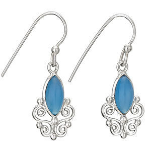 Sterling Chalcedony earring by Tiger Mtn