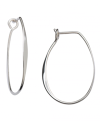 Sterling Olivia hoop by Ed Levin