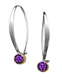 Ed Levin Sway Earring Sterling with Amethyst