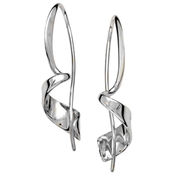 Sterling Twist earring by Ed Levin