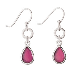 Sterling garnet earring by Tiger Mtn