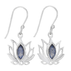 Sterling lotus earring by Tiger Mtn