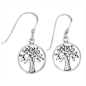 Sterling sm rnd tree earring by Tiger Mountain