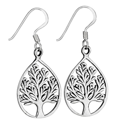 Sterling tree earring by Tiger Mtn