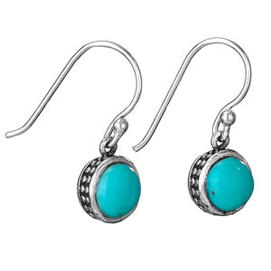 Sterling turquoise earring by Tiger Mtn