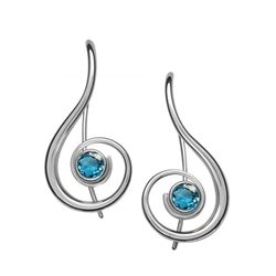 Sterling Lyrical Earrings by Ed Levin