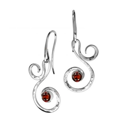 Sterling Fiddlehead Earring by Ed Levin
