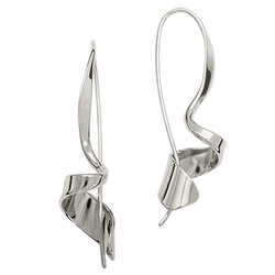 Corkscrew earrings by Ed Levin