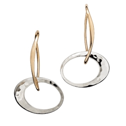 EA3864 14k & Sterling earring by Ed Levin