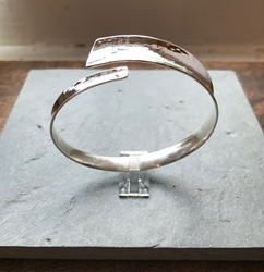 Sterling hammered bangle