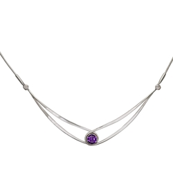 Sterling Gemstone Swing necklace by Ed Levin