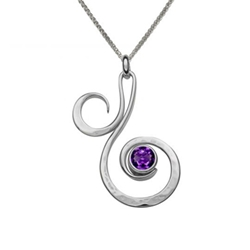 Sterling Fiddlehead Pendant by Ed Levin